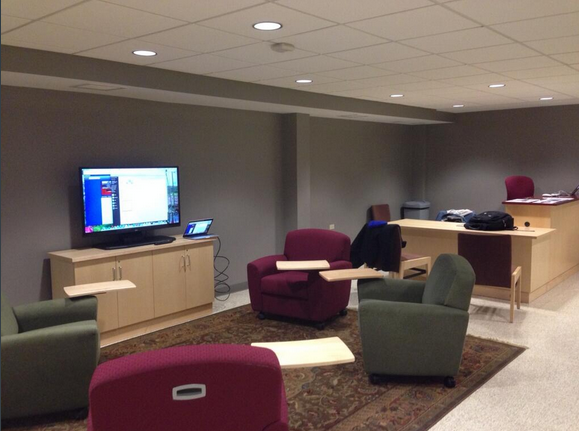 Tech Lounge in Pardee lower level